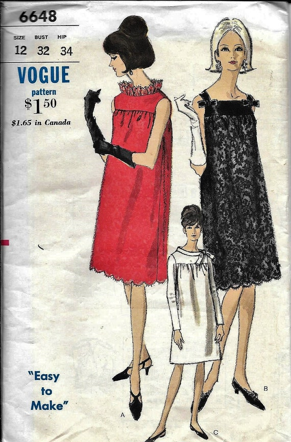 Vogue 40 Vintage 40s MATERNITY Smock Dress Sewing Pattern Etsy Inspiration Smock Dress Pattern