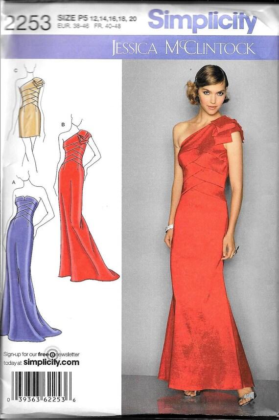 Einfachheit 2253 Jessica McClintock Abend Kleid Schulter / Off | Etsy