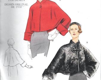Vogue V2934 Original Vintage 1950 Designs 50s Evening Coat Jacket Bolero Sewing Pattern 2934 All Sizes UNCUT