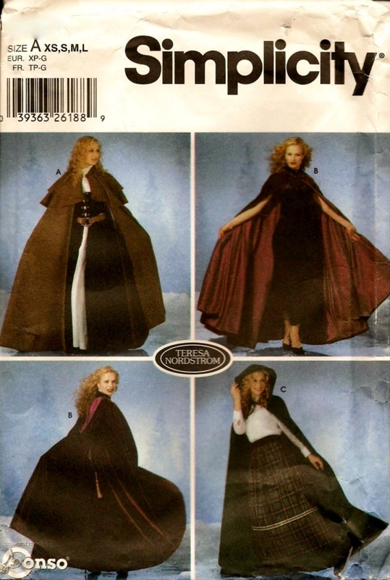 Einfachheit Nähen Muster 5794 viktorianischen Stil Oper Hood | Etsy