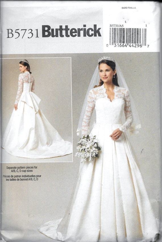Butterick B5731 / BP249 princesa Kate boda vestido novia | Etsy