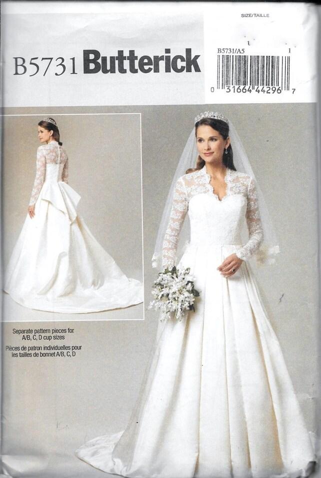 Butterick B5731 / BP239 princesa Kate boda vestido novia   Etsy