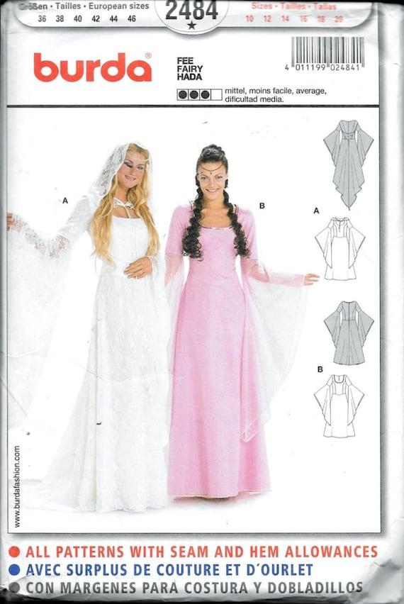 Voorkeur Burda 2484 middeleeuwse trouwjurk & jurk kostuum Arwen Fairy | Etsy #HK89