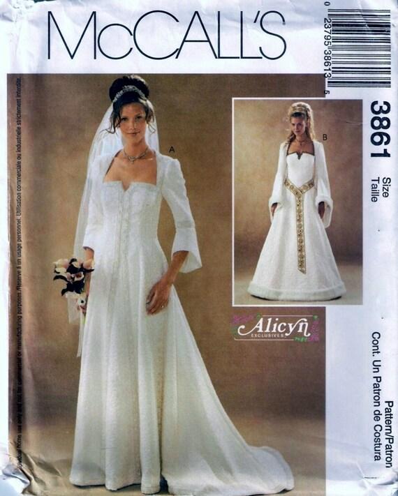 Renaissance Wedding Dress Costume History Mccall S By Heychica: McCall's 3861 Medieval Renaissance Wedding Dress Gown