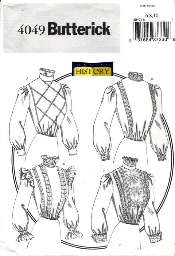 Patrón de costura de Butterick 4049 pierde tamaño de 1800 | Etsy
