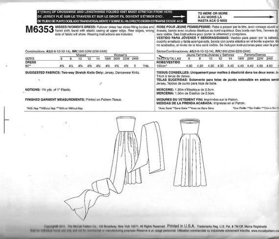 McCall M6353 stricken Abendkleid Schnittmuster 6353 | Etsy