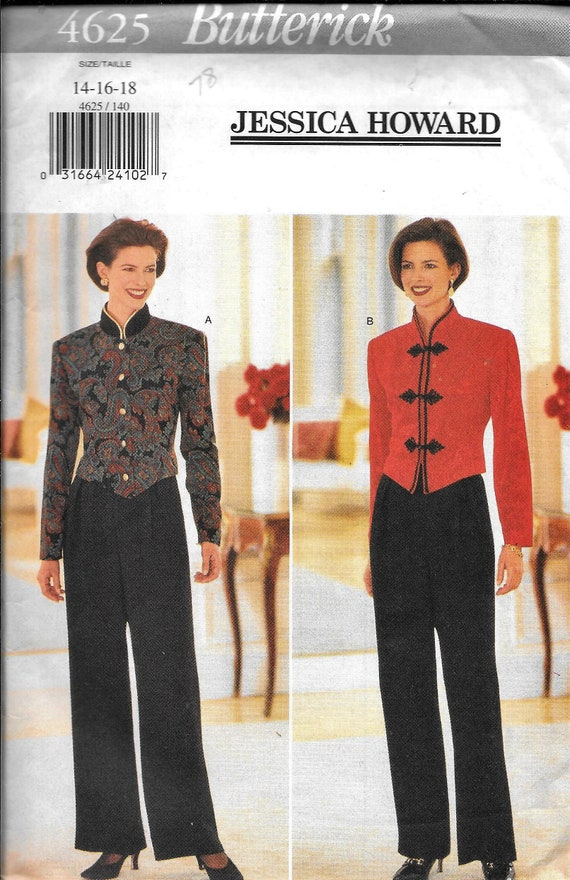 4625 UNCUT Butterick SEWING Pattern Misses Jessica Howard Top Pants