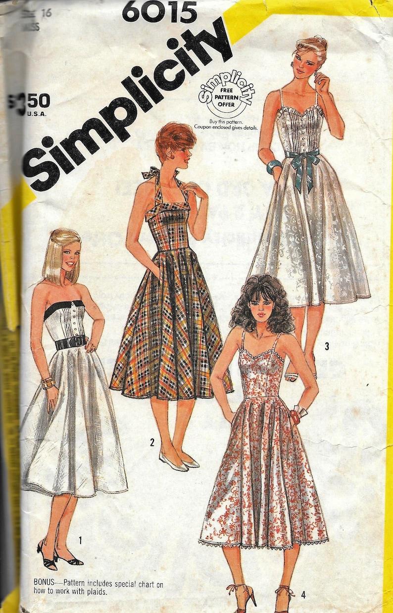 ec480e0971 Vintage Simplicity 6015 Fun   Flirty Summer Dress Sewing