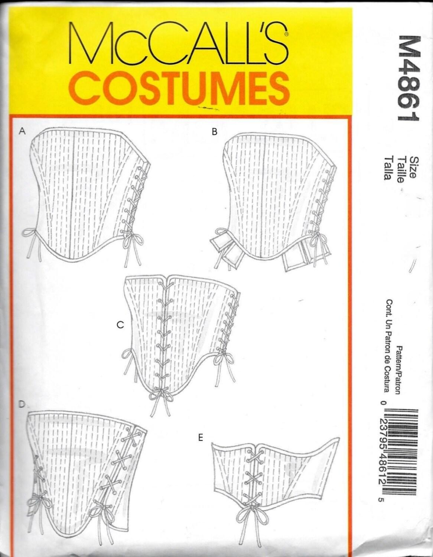 Costura patrón M 4861 Renacimiento moza Medieval corsés de | Etsy