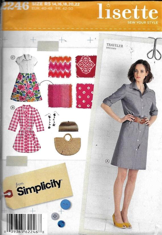 Einfachheit 2246 LISETTE Reisenden Kleid Schnittmuster 3 Arten | Etsy