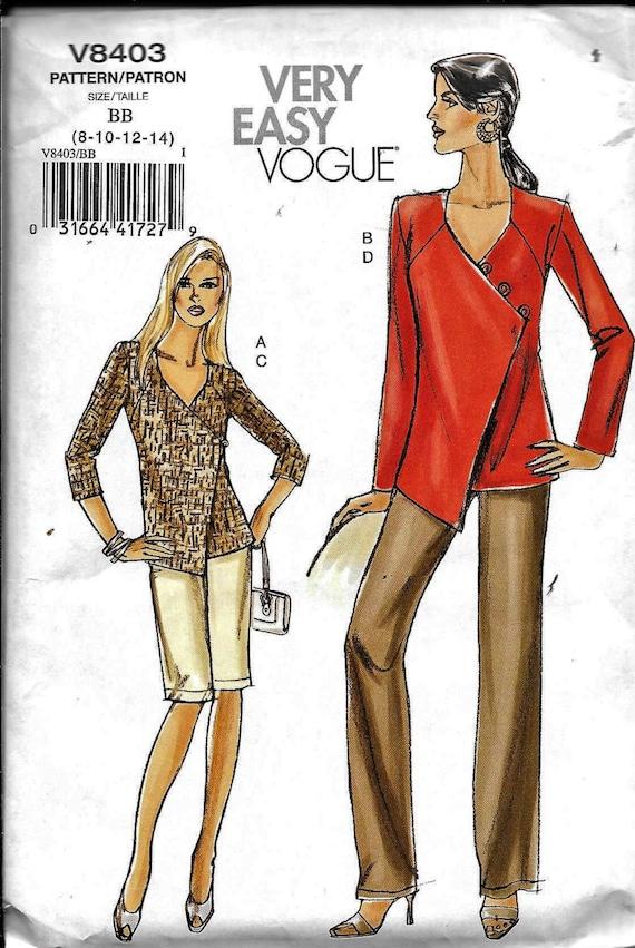 Vogue V8403 muy fácil abrigo túnica camisa o chaqueta | Etsy