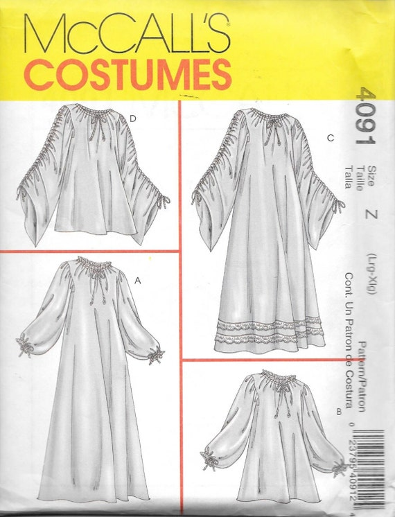 McCall\'s 4091 Costume Sewing Renaissance Medieval Chemise | Etsy