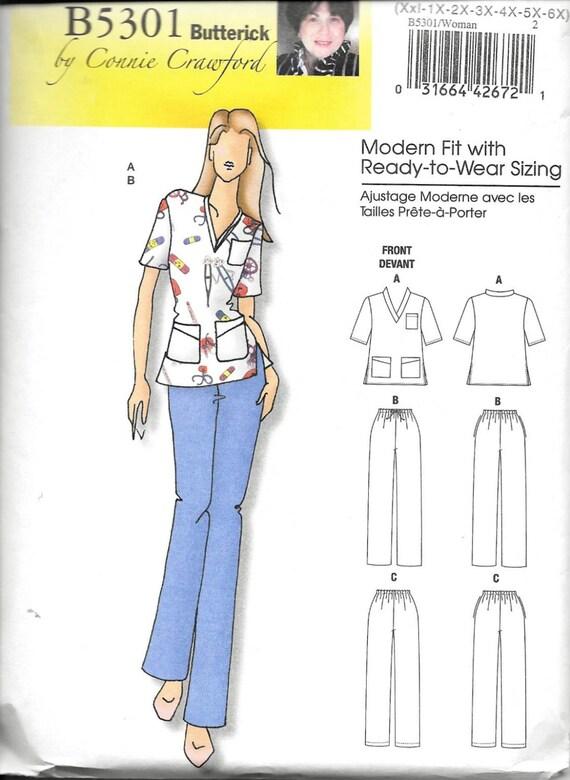 Mujeres enfermeras peelings Top pantalones costura patrón 5301   Etsy