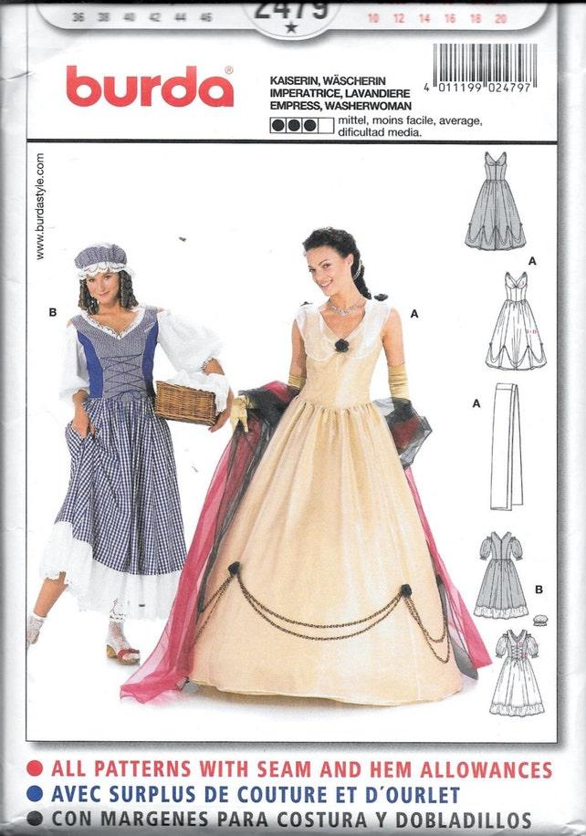 2479 Burda Kaiserin und Waschfrau historisches Kostüm nähen | Etsy