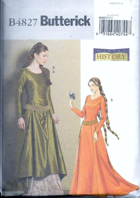 Butterick B4827 Renaissance mittelalterliche Prinzessin Gothic | Etsy