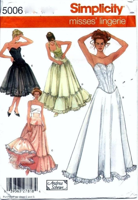 Simp 5006 Misses Lingerie 4 Evening Full Skirt Pattern