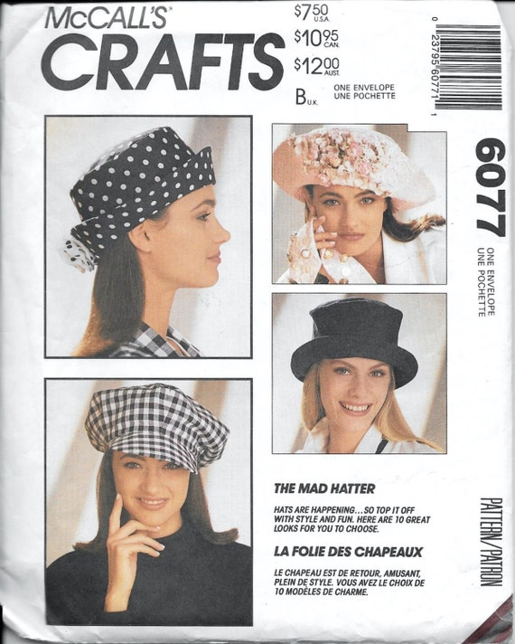 Vintage McCall\'s 6077 Hat Millinery Sewing Pattern The Mad | Etsy