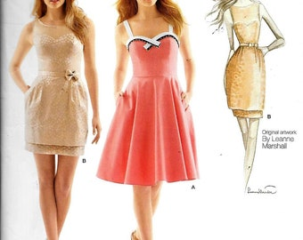 Simplicity 1353 Leanne Marshall EVENING DRESS Sewing Pattern UNCUT Size 4, 6, 8, 10, 12