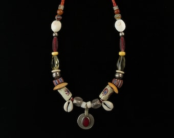 Turkoman Red Glass Necklace