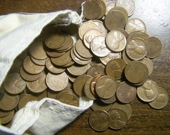 200 Wheat Penny Wheaties From old estate Hoard! ALL 1940s-1950s P D S Lincoln Cents
