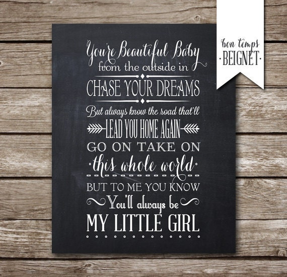 Items Op Etsy Die Op My Little Girl Lyrics By Tim Mcgraw