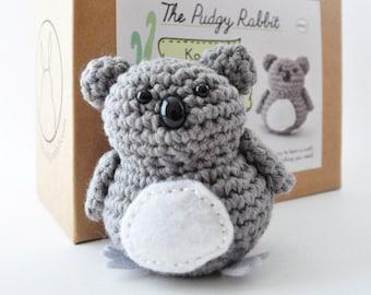 Koala Crochet Kit, DIY Amigurumi Kit, Learn to Crochet, DIY Craft