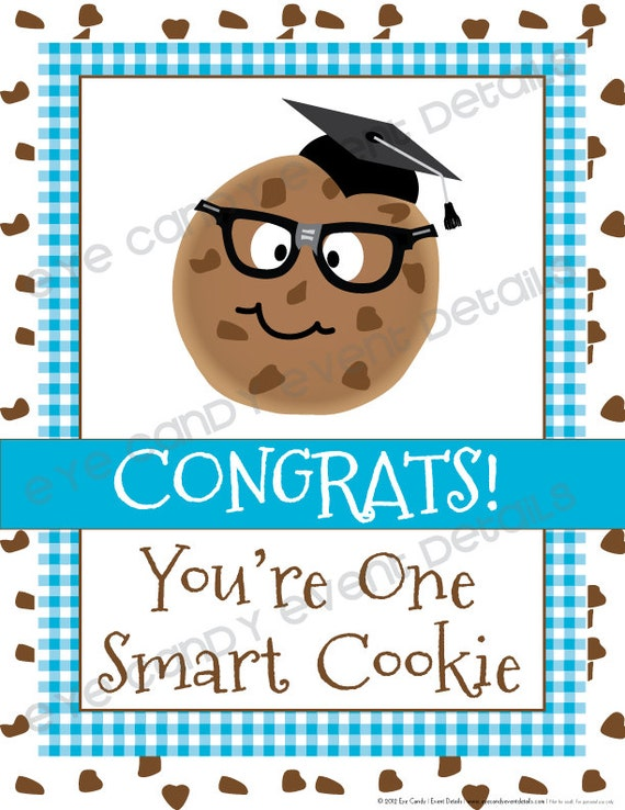 image regarding You're One Smart Cookie Printable referred to as A person Good Cookie/ Milk Cookies / Back again in direction of Faculty Occasion Pack