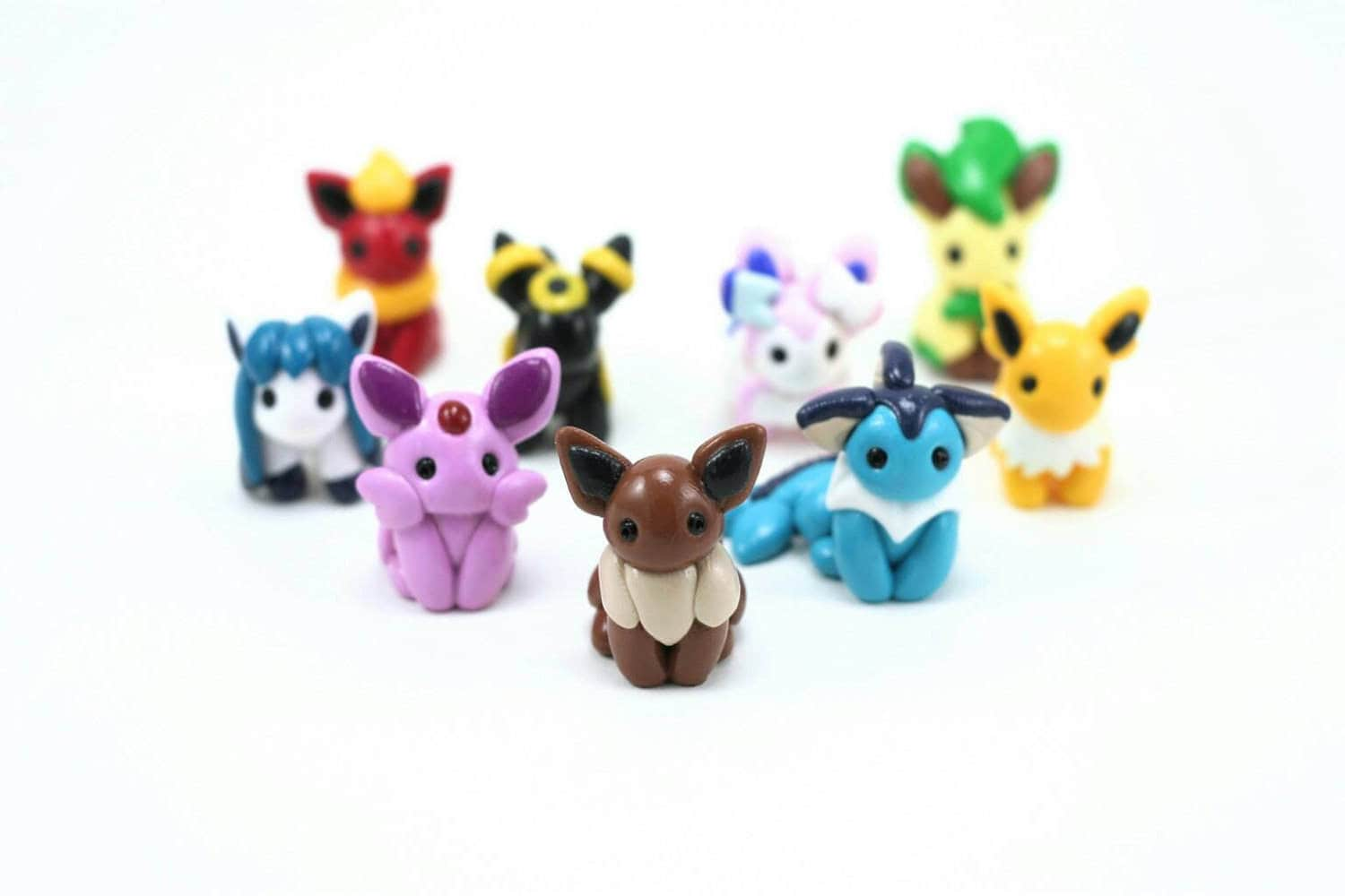 Pokemon Eeveelutions Figure Use Your Favorite Eevee Evolution As A Cake Topper Or Terrarium Accessory