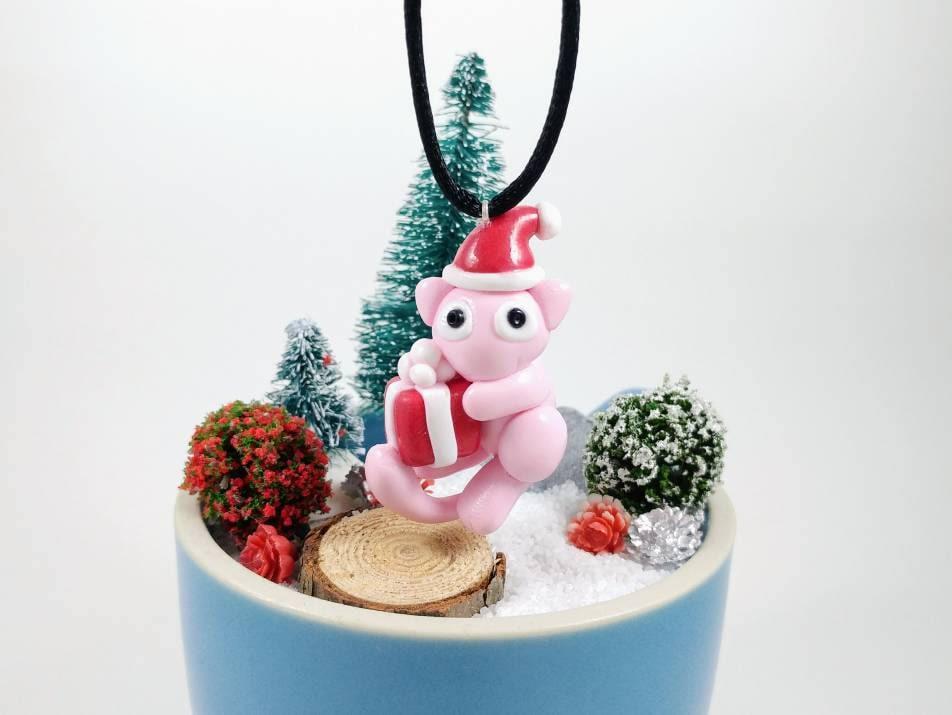 Pokemon Christmas Ornaments.Holiday Mew Pokemon Christmas Ornament