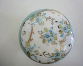 Vintage Italian Porcelain Trinket Box Hand Painted Italian Porcelain Small Box