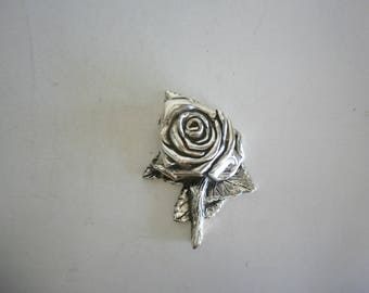 Vintage Italian Silver Plated Rose Home Ornament Rose Christmas Present