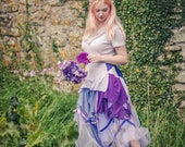 Lilac & Purple Fairy dress, cosplay, kawaii fairytale ball gown, pastel witch costume Sustainable festival fashion, Adult Cinderella costume