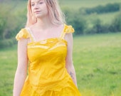 Mustard gold pure silk Fairy top. Naturally dyed cami vest top for a fairy costume. Mori girl boho festival fashion, bohemian clothing