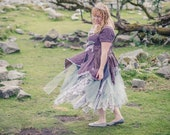Purple, lilac & grey fairy ball gown; fairytale wedding dress; bohemian bride; luxury adult fairy costume; boho prom dress, fairytale dress
