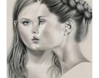 12x16 Illustration Print - 'Make Up'