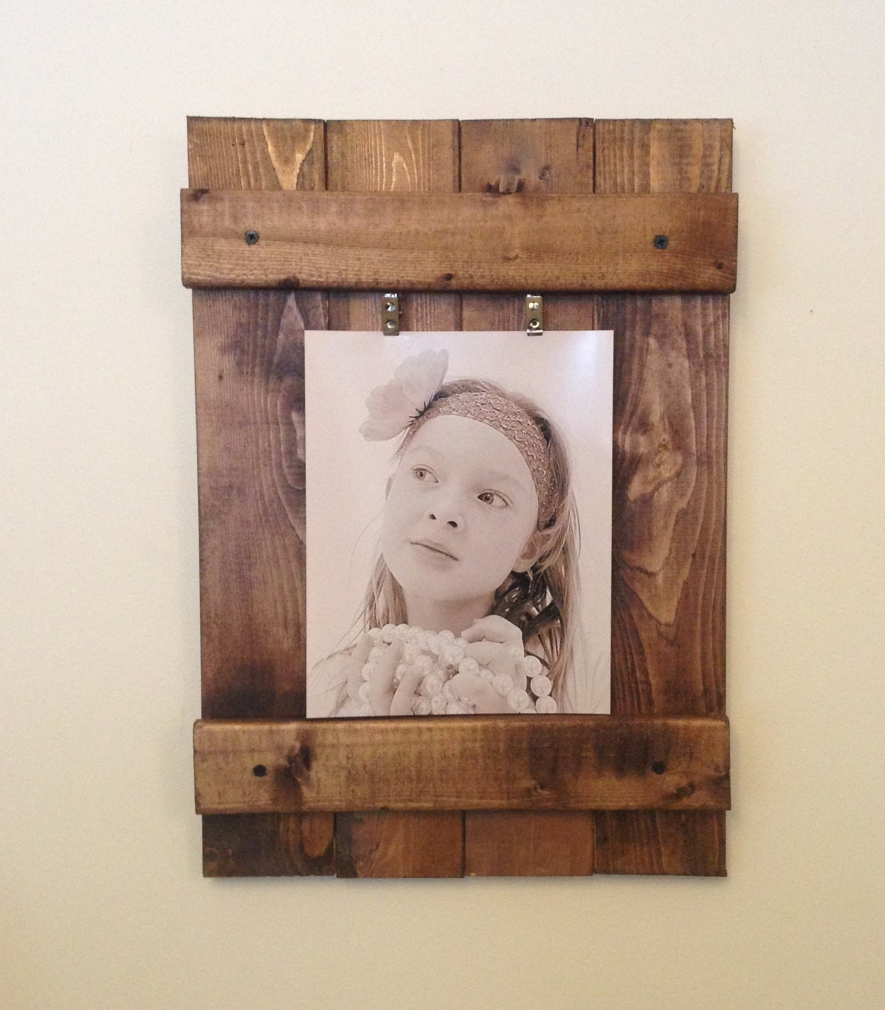 Wooden Picture Frame Rustic Wall Frame Wall Art Rustic Etsy