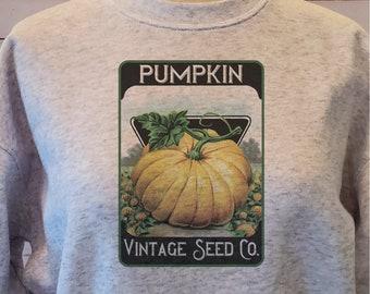Vintage seed packet, Pumpkin sweatshirt, Mommy and me sweatshirts, Daddy and me sweatshirts, Pumpkin seed print