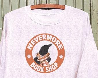 Nevermore sweatshirt, Raven sweatshirt, Book lover gift, Mommy and me sweatshirts