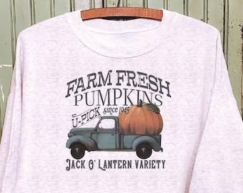 Pumpkin truck sweatshirt, Pumpkin sweatshirt, Pumpkin farm shirt, Mommy and me sweatshirts