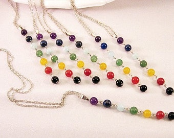 As Seen At The GBK 2017 Golden Globes, Stone Y Necklace Multi Colors