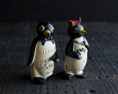 Willie and Millie Salt and Pepper Shakers- Rustic Vintage