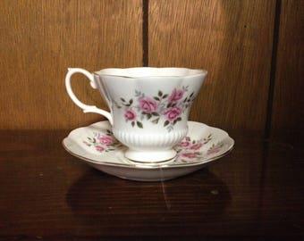 Royal Albert Bone China England Cup & Saucer Floral