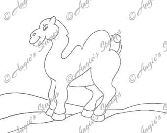 Camel Digital Stamp