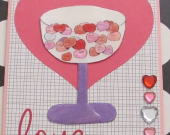 Candy Dish With Heart Candy Digital Stamp