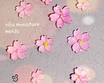 Dollhouse Miniature Mold Sakura Flower Cherry Blossom Petals