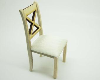 Sedia A Dondolo Per Bambini Mista : Sedia in legno in miniatura etsy