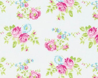Tanya Whelan for Free Spirit - ZOEY'S GARDEN - Zoey Rose in White - Cotton Fabric
