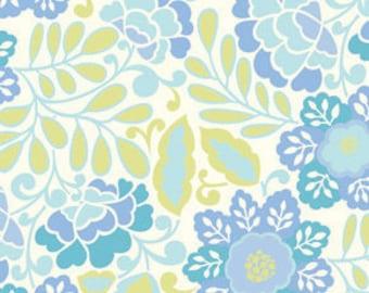 Dena Designs - TAZA - Little Navina in Blue - 1 Yard - Cotton Fabric