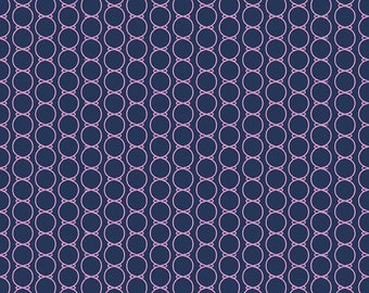 Dodi Lee Poulsen for Riley Blake Designs - LULABELLE - Bowtie in Navy - Cotton Fabric - 1 yard