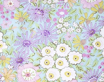 Dena Designs for Free Spirit - MEADOW - Morning Glory in Purple - 1 Yard - Cotton Fabric